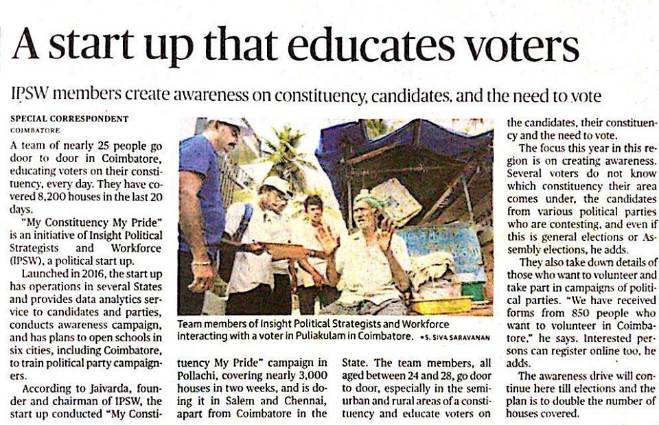 A start up that educates voters