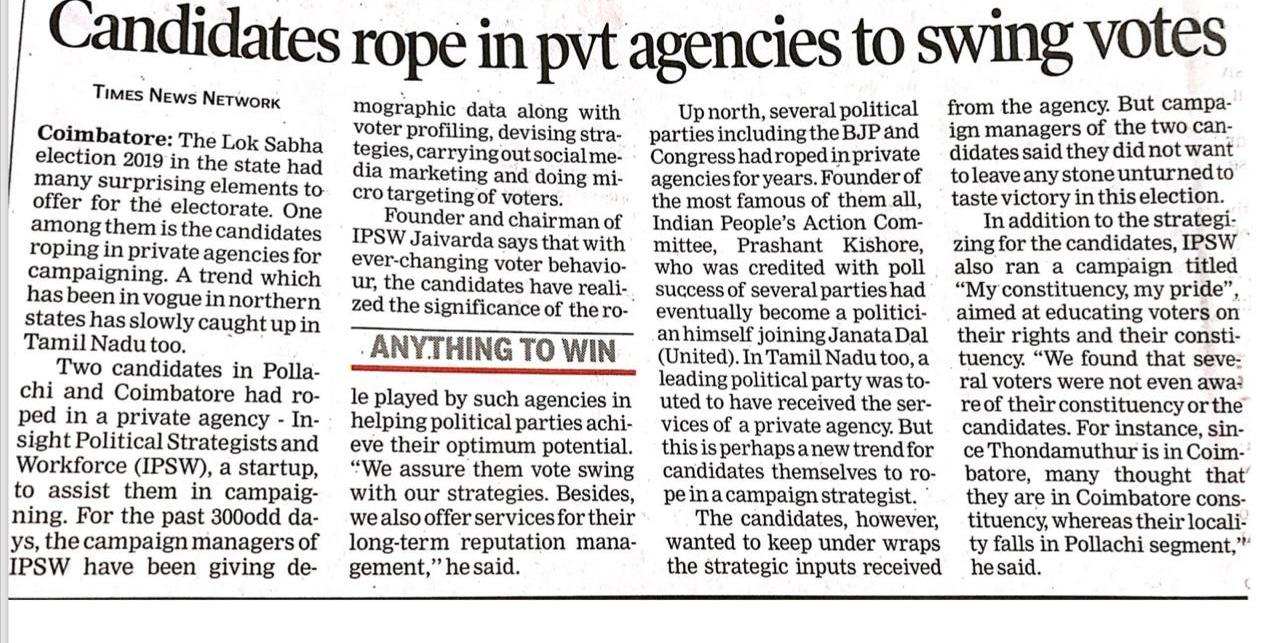 Candidates rope in pvt agencies to swing votes