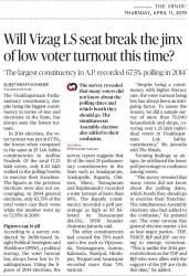 Will Vizag LS seat break the jinx of low voter turnout this time?